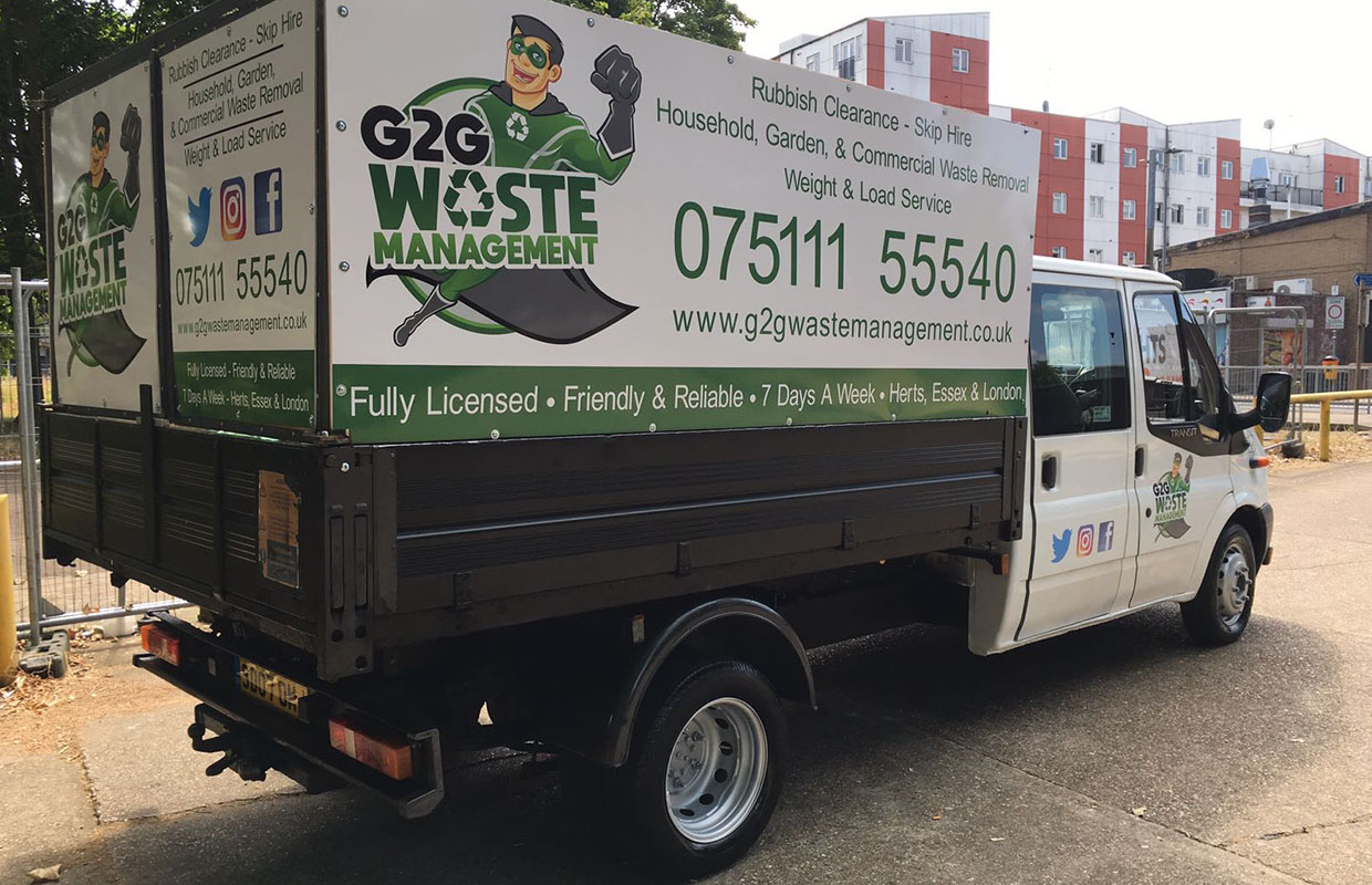 G2G Waste Management Rubbish Removal Van