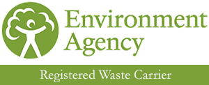 Registered Waste Carrier for the Environmental Agency